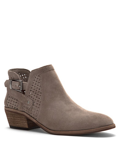 Vince Camuto Pamma Suede Ankle Boots-TAUPE-6.5