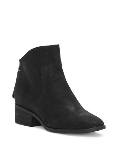 Lucky Brand Lahela Suede Booties-BLACK-6