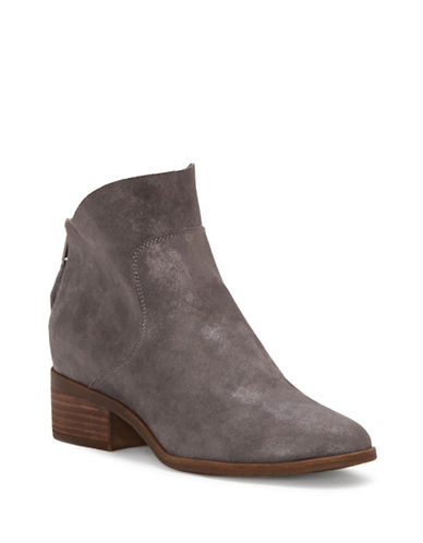 Lucky Brand Lahela Suede Booties-CHARCOAL-8