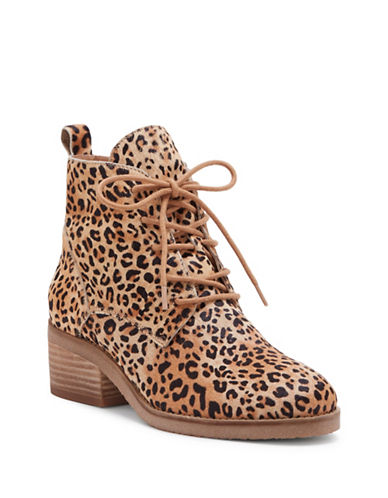 Lucky Brand Tamela Calf Hair Booties-LEOPARD-7