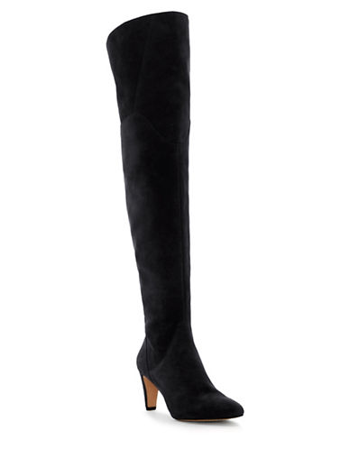 Vince Camuto Armacelli Over the Knee Suede Boots-BLACK-8.5