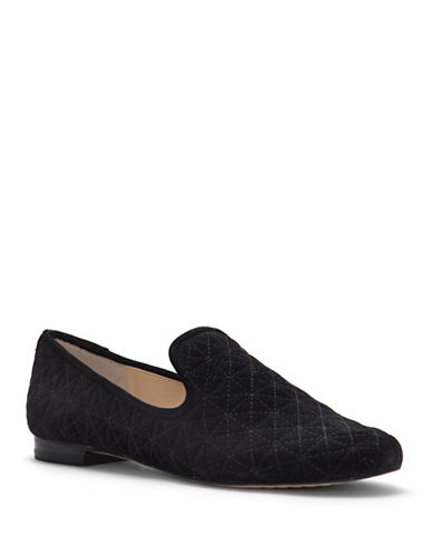 Vince Camuto Lieley Leather Smoking Slippers-BLACK-7