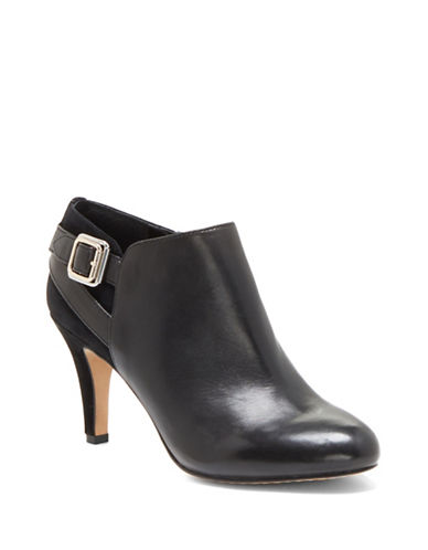 Vince Camuto Vayda Sued Low Ankle Boots-BLACK-11