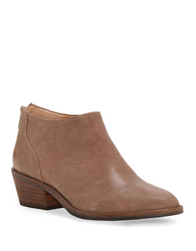 Lucky Brand Fai Leather Booties-TAUPE-7.5
