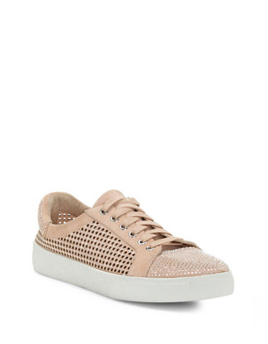 Vince Camuto Chenta Studded Suede Low-Top Sneakers-POWDER BEIGE-6