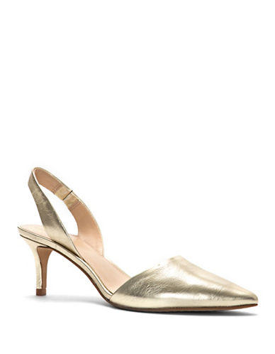 Vince Camuto Kolissa Leather Pumps-GOLD-6.5