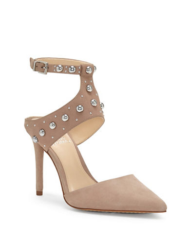 Vince Camuto Ledana Studded Leather Pumps-DUSTY MINK-10