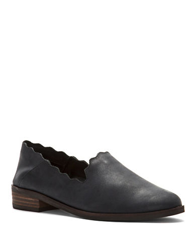 Lucky Brand Chaslie Scallop Flats-BLACK-7