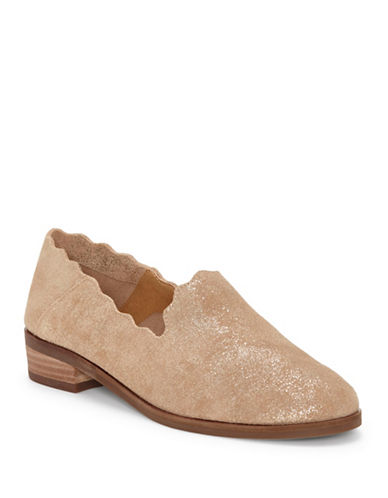 Lucky Brand Chaslie Scallop Flats-GOLD-5