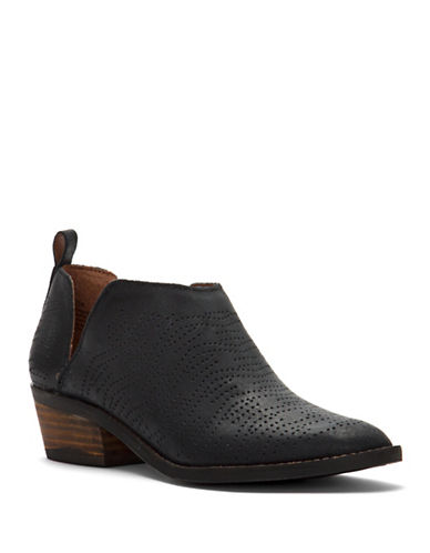Lucky Brand Fayth Leather Booties-BLACK-5