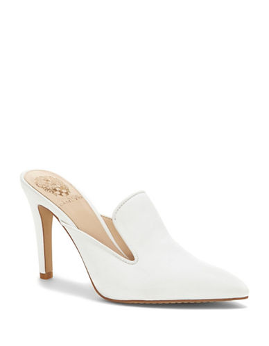 Vince Camuto Emberton Leather Mules-PURE WHITE-5.5