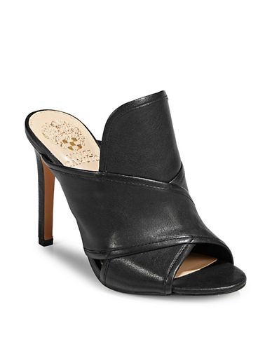 Vince Camuto Kizzia Leather Dress Mules-BLACK-9.5