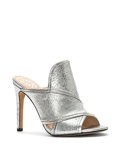 Vince Camuto Kizzia Leather Dress Mules-SILVER-7.5