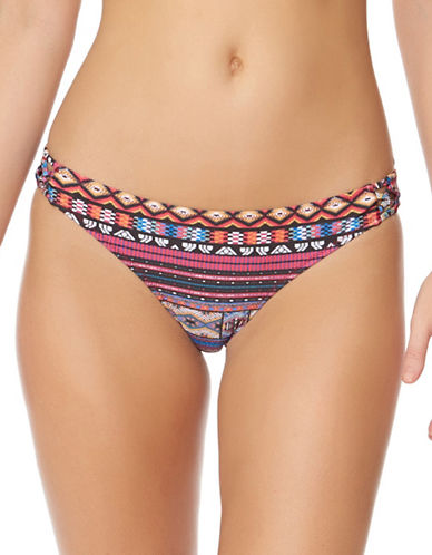 Jessica Simpson Queen Bikini Bottom-SPICE MULTI-Medium