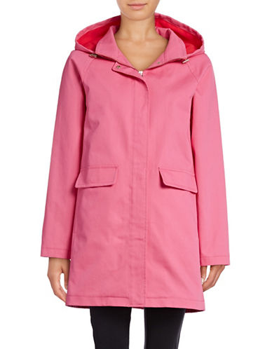 Kate Spade New York Zip-Up Trench Coat-PINK-Large