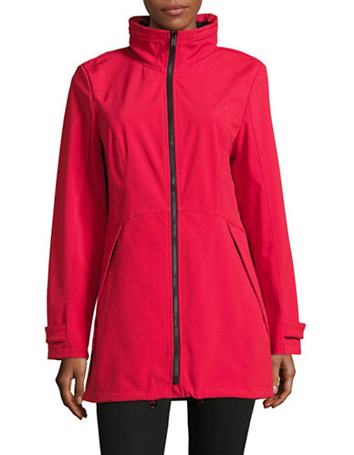 London Fog Fit-and-Flare Soft Shell Jacket-RED-Large 88857053_RED_Large