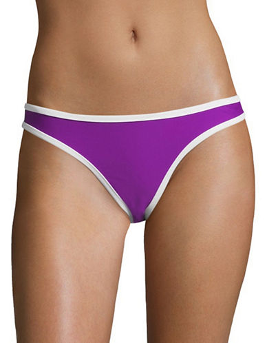 Design Lab Lord & Taylor Reversible Cheek Hipster Swim Briefs-VIOLET-Large
