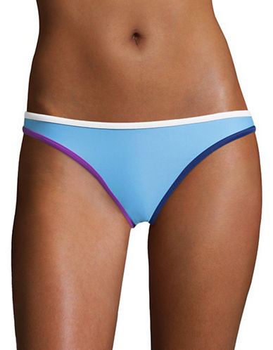 Design Lab Lord & Taylor Banded Colourblock Hipster Swim Briefs-BARBADOS BLUE-Large