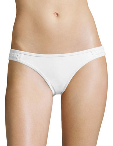 Design Lab Lord & Taylor Crochet Side Tab Hipsters-WHITE-X-Large