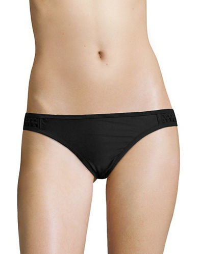 Design Lab Lord & Taylor Crochet-Accented Hipster Bottoms-BLACK-X-Large