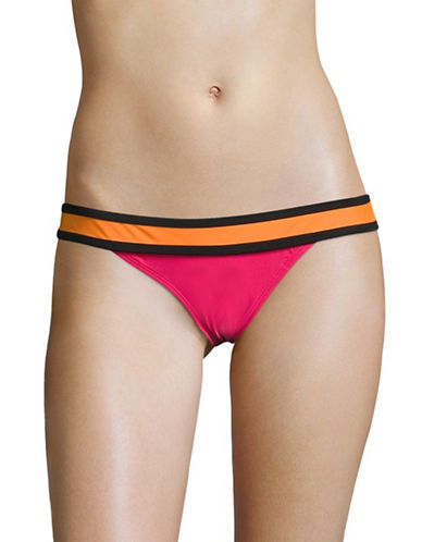 Design Lab Lord & Taylor Colourblock Banded Hipster Bottoms-MIAMI SPICE-Large