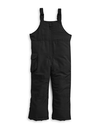 F.O.G. By London Fog Girls Bib Snow Pants-BLACK-14