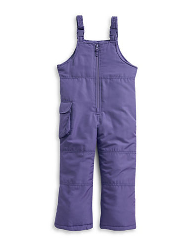 F.O.G. By London Fog Girls Bib Snow Pants-PURPLE-18 Months