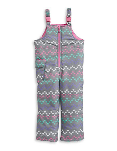 F.O.G. By London Fog Girls Bib Snow Pants-GREY-5