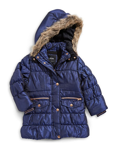 F.O.G. By London Fog Shimmer Puffer Jacket-BLUE-6X