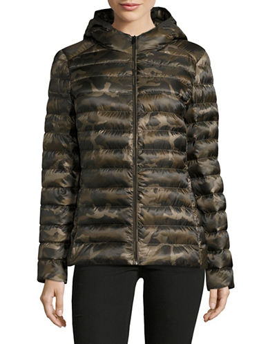 Design Lab Lord & Taylor Packable Down Puffer Jacket-CAMO-Small