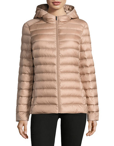 Design Lab Lord & Taylor Packable Down Puffer Jacket-BLUSH-Medium