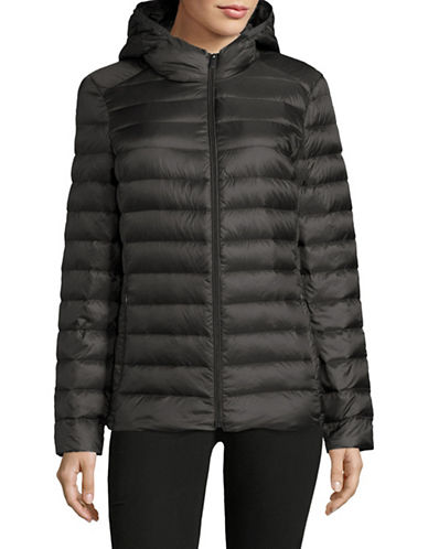 Design Lab Lord & Taylor Packable Down Puffer Jacket-GRAPHITE-X-Large