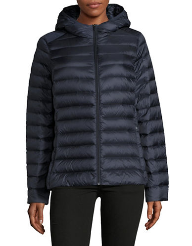 Design Lab Lord & Taylor Packable Down Puffer Jacket-NAVY-Medium