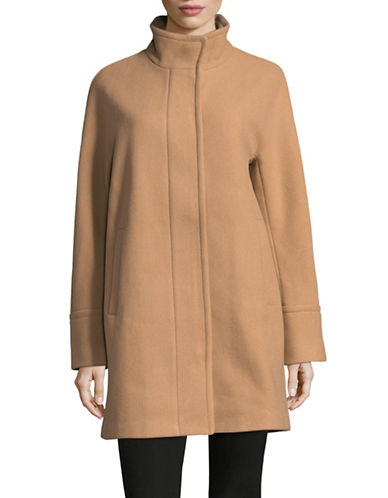 London Fog Wool Twill Cocoon Coat-CAMEL-Medium