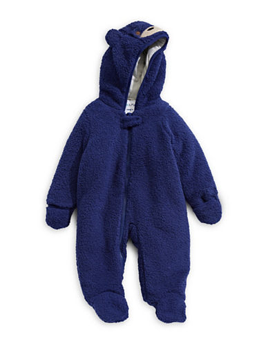 Kiko And Max Sherpa Plush Critter Footie-BLUE-3 Months