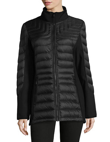 1 Madison Nylon Down Jacket-BLACK-Large