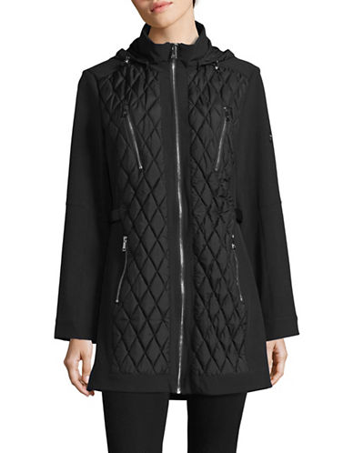 1 Madison Quilted Hooded Jacket-BLACK-Medium