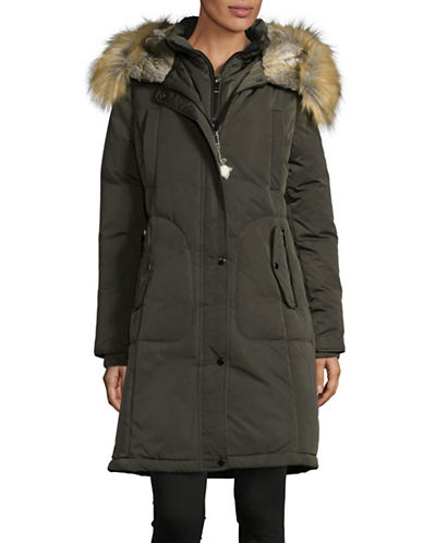 1 Madison Cotton Blend Parka-OLIVE-Large