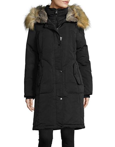1 Madison Cotton Blend Parka-BLACK-Large