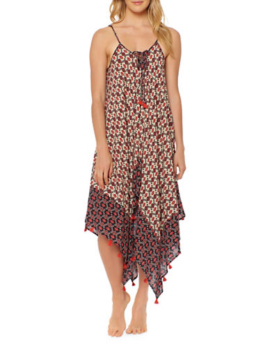 Jessica Simpson Asymmetric Cover-Up Dress-MULTI-Medium
