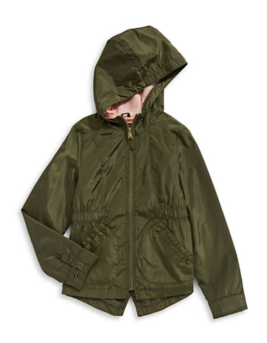 Jessica Simpson Hooded Zip-Up Jacket-GREEN-16