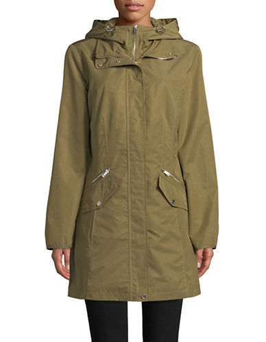 London Fog Hooded Bib Jacket-GREEN-Small 89691156_GREEN_Small