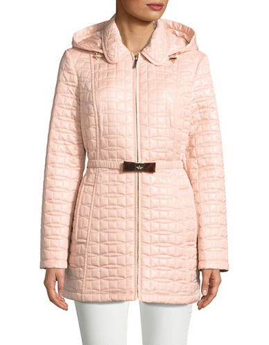 Kate Spade New York Bow Quilted Jacket-PINK-Medium