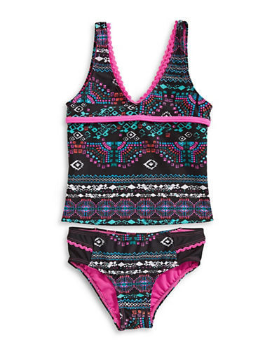 Jessica Simpson Two-Piece Printed Tankini Set 89784459