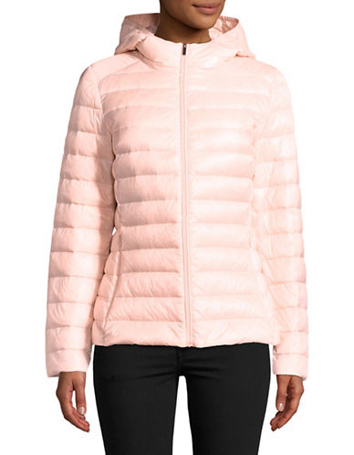 Design Lab Lord & Taylor Quilted Packable Down Jacket-PINK-Medium