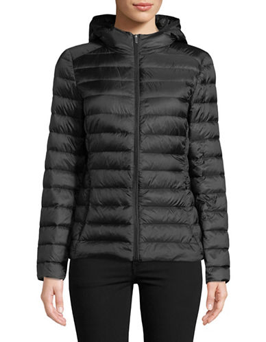 Design Lab Lord & Taylor Quilted Packable Down Jacket-BLACK-XX-Large