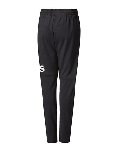 Adidas Essentials Tapered Fleece Training Pants-BLACK-Small