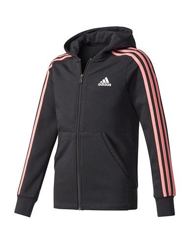 Adidas Climalite Zip Hoodie-BLACK-Medium