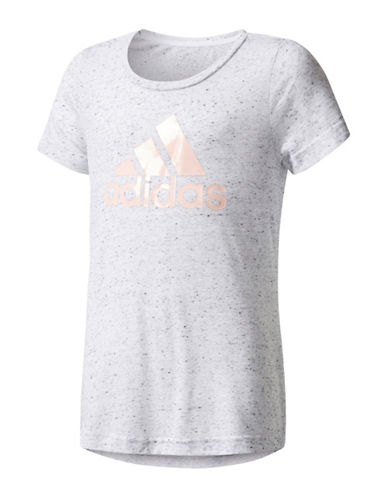Adidas Speckled Graphic Tee-WHITE-Small