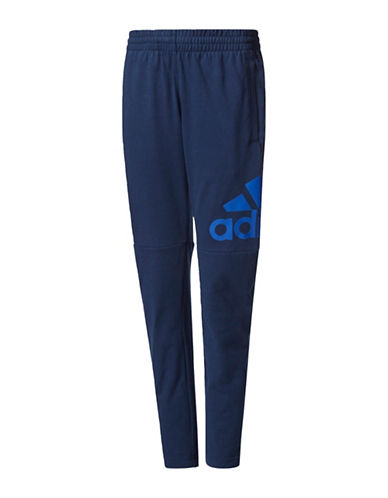 Adidas Essentials Tapered Fleece Training Pants-BLUE-Small 89351219_BLUE_Small
